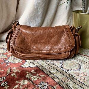 Leather Shoulder Bag | Banana Republic | Cognac